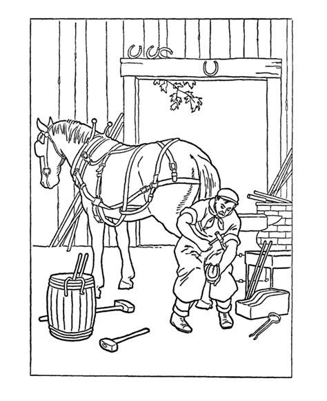 colonial jobs coloring pages usa printables early american occupations coloring pages