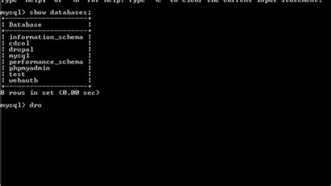 xp mysql command line tutorial create a database and a table using mysql commands youtube