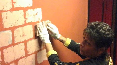 how to faux paint a wall sponge painted quot faux quot brick wall youtube