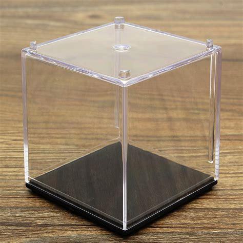 clear acrylic l base 5x5x5cm clear acrylic display stand box case plastic base