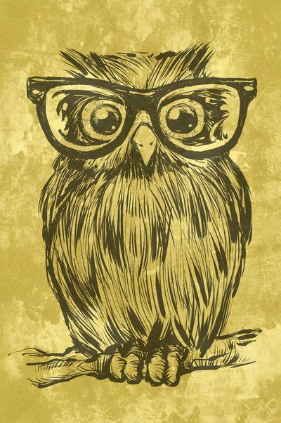 printable owl art spectacle owl art print white pencil browning and glasses