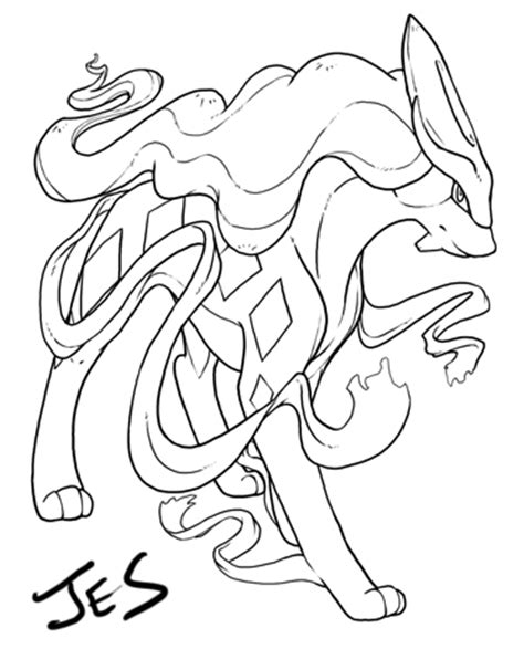 pokemon coloring pages suicune suicune color me by jesgrad07 on deviantart
