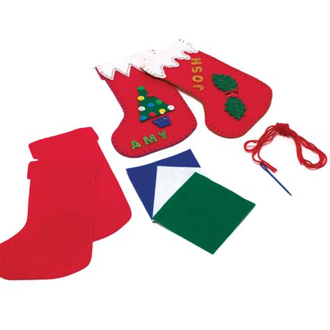 sewing christmas stocking kits felt christmas stocking sewing kit
