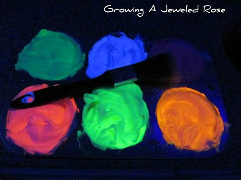 how to make glow in the paint diy glowing bath paint growing a jeweled