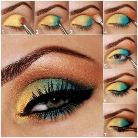 eyeshadow tutorial green eyes vibrant colors eye makeup tutorial