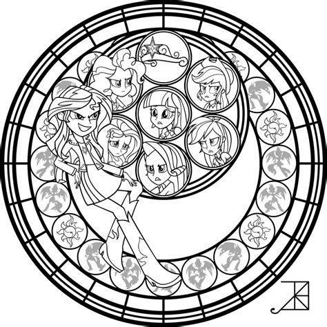 libro mandalas at midnight a sunset shimmer stained glass coloring page by akili amethyst com on