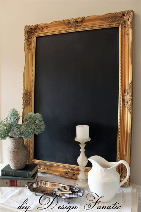 diy chalkboard from mirror diy design fanatic how to make a framed chalkboard from a