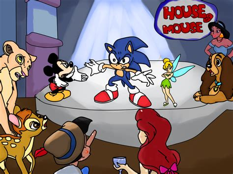 disney s house of mouse sonic goes to the house of mouse by skylar wolf on deviantart
