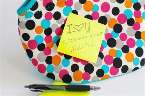 Post It Make It Stick Sweepstakes - little love notes for lunch make and takes