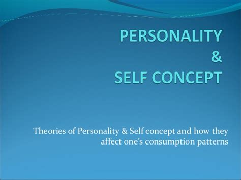 gallagher pattern theory of self personality self concept