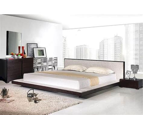 modern platform bedroom set modern platform bedroom set in wenge finish made in italy
