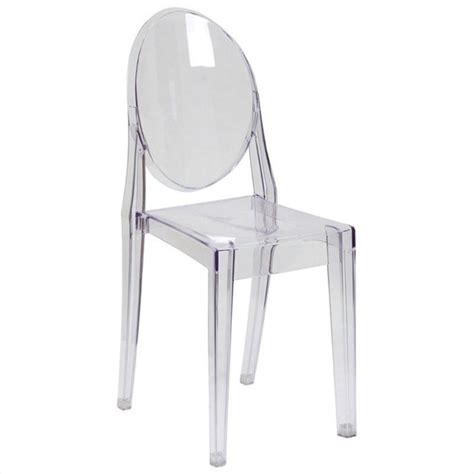 dining chair in transparent fh 111 apc clr gg
