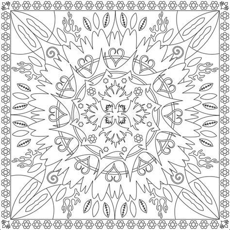 le format eps livre de page de coloration pour le format carr 233 mandala