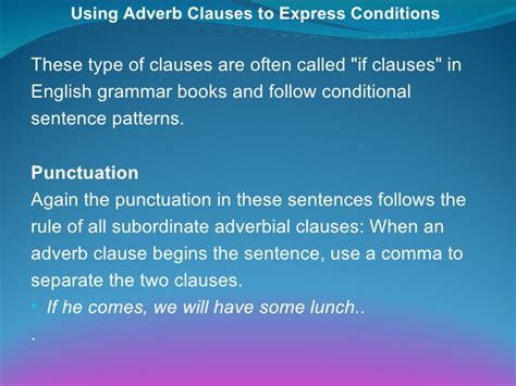 the pattern of conditional sentences 4 4 2 adverb clauses