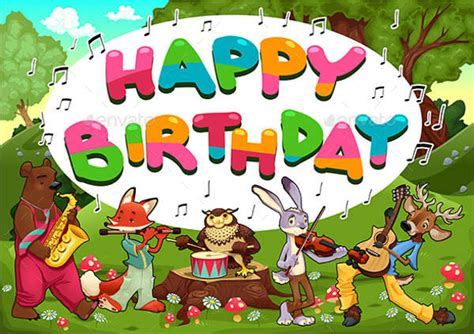 animal birthday card template 9 birthday card templates free psd vector ai eps