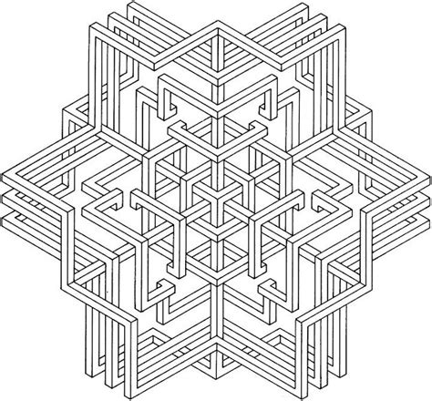 geometric coloring pages free printable geometric coloring pages for adults
