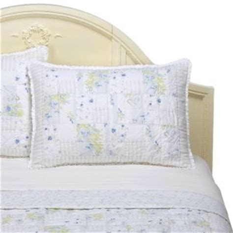 simply shabby chic garden stripe blue twin set quilt