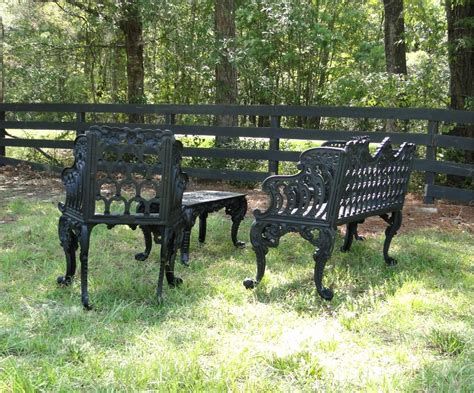 garden bench set garden bench set two side chairs one bench and one table vintage victorian style the
