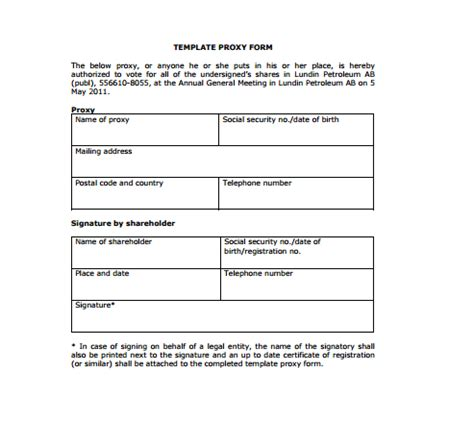 proxy templates sample templates
