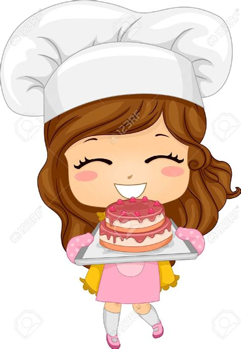 Mini Cup Cook Kartoon 20040500 illustration of baking a cake stock illustration chef jpg