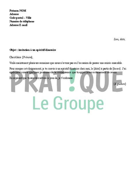 Exemple De Lettre D Invitation à Un Buffet lettre d invitation 224 un ap 233 ritif dinatoire pratique fr