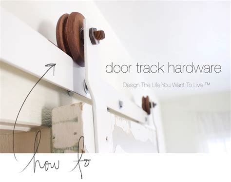 How To Make Your Own Barn Door Hardware Free Tutorial On How To Make Your Own Sliding Door Hardware Http Www Lynneknowlton Diy