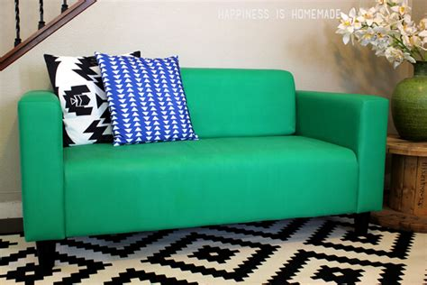 Ikea Free Couch Giveaway - how to easily make over a sofa with paint happiness is homemade