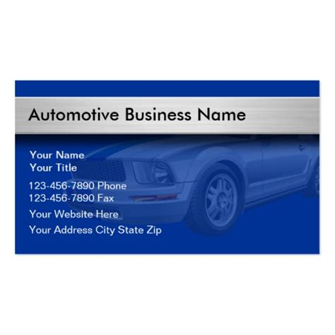 Auto Business Cards Templates by Automotive Business Card Templates Page9 Bizcardstudio