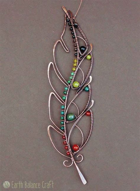 wire craft project ideas feathery delights made copper wire work feather