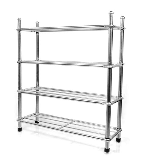 Shoe Rack Stainless Steel by E Traders Stainless Steel Shoe Rack Buy E Traders