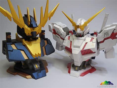 Unicorn Gundam Papercraft - gundam papercraft unicorn gundam destroy mode bust