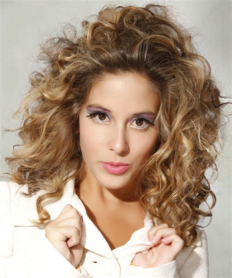 curly hairstyles casual medium curly casual hairstyle dark blonde hair color