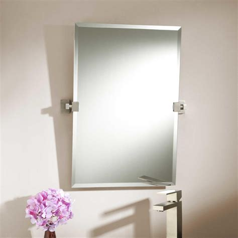 mirrors for the bathroom 24 quot helsinki rectangular tilting mirror bathroom