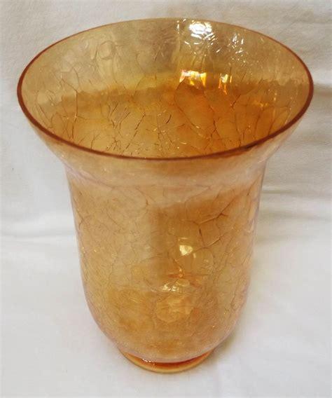 vintage chagne glasses vintage marigold crackle glass vase from