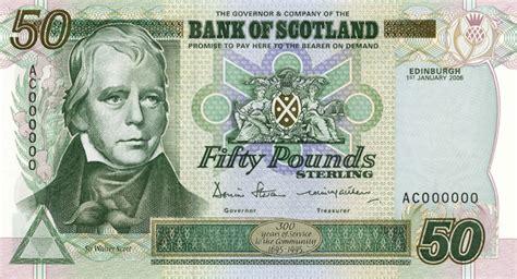 scottish bank notes bank of scotland