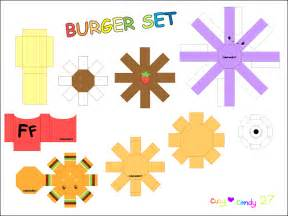 food papercraft template burger meal papercraft by cutycandy27 on deviantart