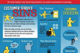 customer service sins infographic