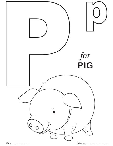 P Coloring Pages by Printable Alphabet Coloring Pages Az Coloring Pages