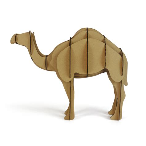 Cardboard Papercraft - 3d puzzle camel toys for children diy cardboard