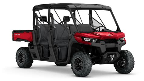 can am defender max 6 seater side by side atvconnection