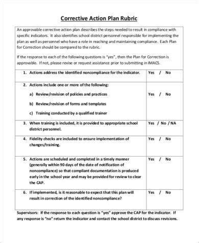 11 Employee Corrective Action Plan Exles Pdf Word Pages Employee Corrective Plan Template