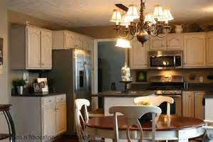 Glazing Kitchen Cabinets Before And After by Chic On A Shoestring Decorating Kitchen Before And After