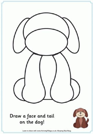 puppy template template to print
