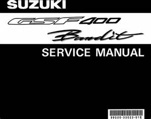 Suzuki Workshop Manual Suzuki Gsf400 Gsf 400 Bandit Complete Official Factory