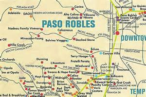 map of paso robles wineries living enthusiast