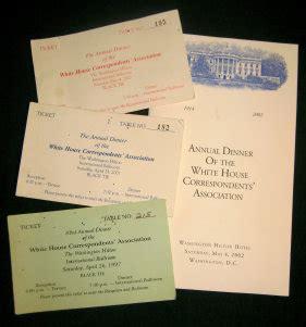 White House Correspondents Dinner Tickets by Byerrum Mysteries 10