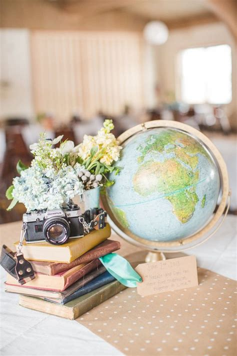 globe centerpieces 30 travel themed wedding ideas you ll want to deer