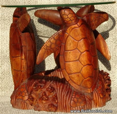 carved wood table bases carved wood turtle table base glass top wood carvings bali