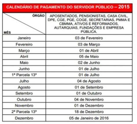 calendario de pagamento dos servidores de minas em 2016 governo divulga calend 225 rio de pagamento dos servidores