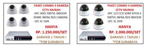 Paket Cctv 4 Ch Bisa Rekam Tinggal Colok Lgs Nyala daftar harga kamera cctv dvr h 264 grosir reseller installer agen distributor